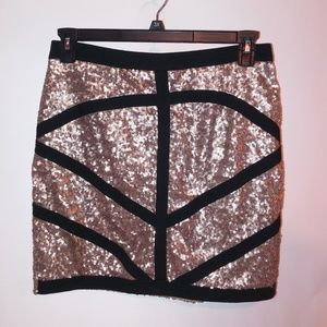 Miss Guided Sequin Skirt